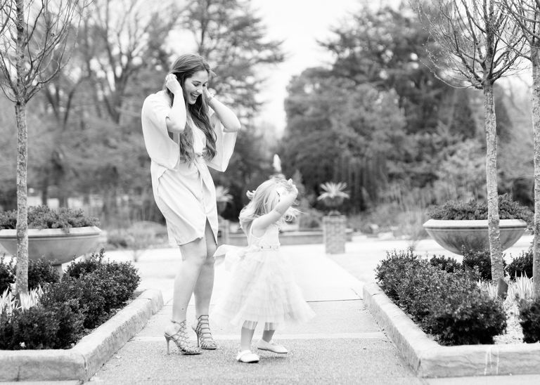 Family Photographers Memphis TN |Memphis Botanical Garden | Celebrate Motherhood Mommy and Me Photo Session | Mom and dancing daughter